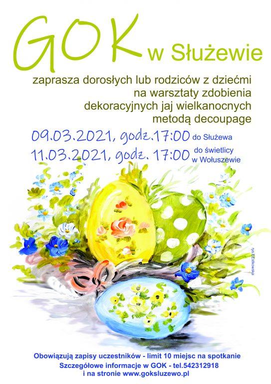 Warsztaty zdobienia dekoracyjnych jaj wielkanocnych metodą decoupage