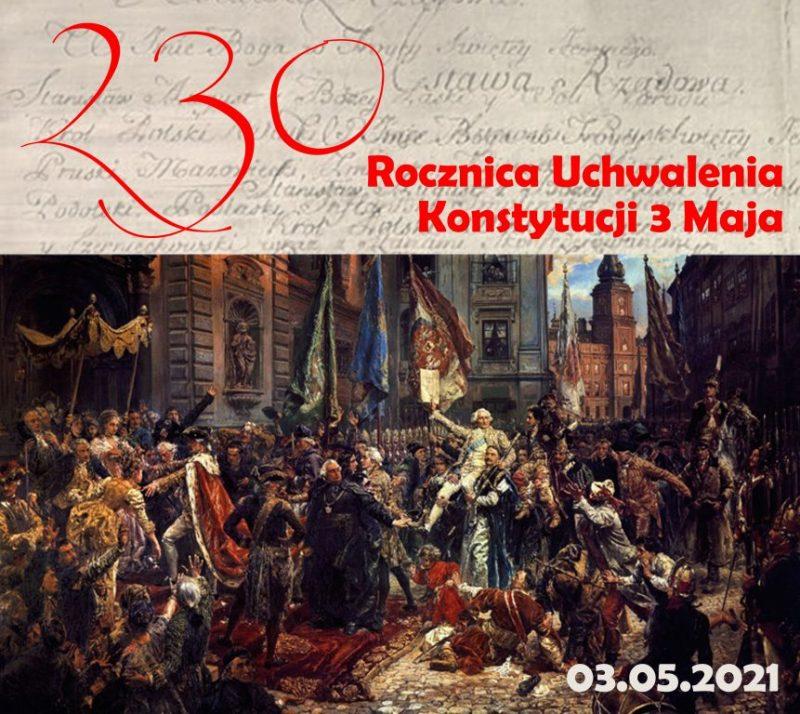 1791-2021: 230 rocznica uchwalenia Konstytucji 3 Maja