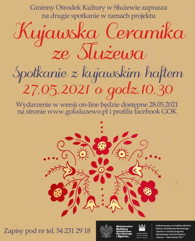Spotkanie z haftem kujawskim już w czwartek, 27.05.2021 o 10:30 w GOK
