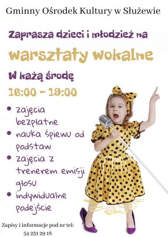 Warsztaty wokalne dla dzieci i młodzieży