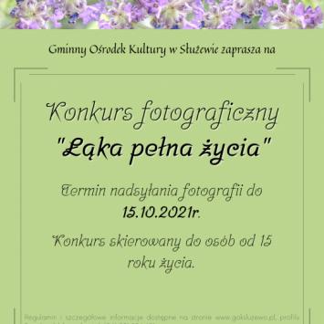"""Konkurs fotograficzny """"Łąka Pełna Życia"""""""