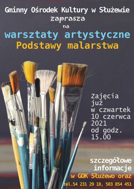 Cykliczne warsztaty artystyczne – podstawy malarstwa.