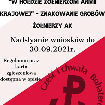 """""""W hołdzie Żołnierzom Armii Krajowej"""" – znakowanie grobów Żołnierzy AK"""
